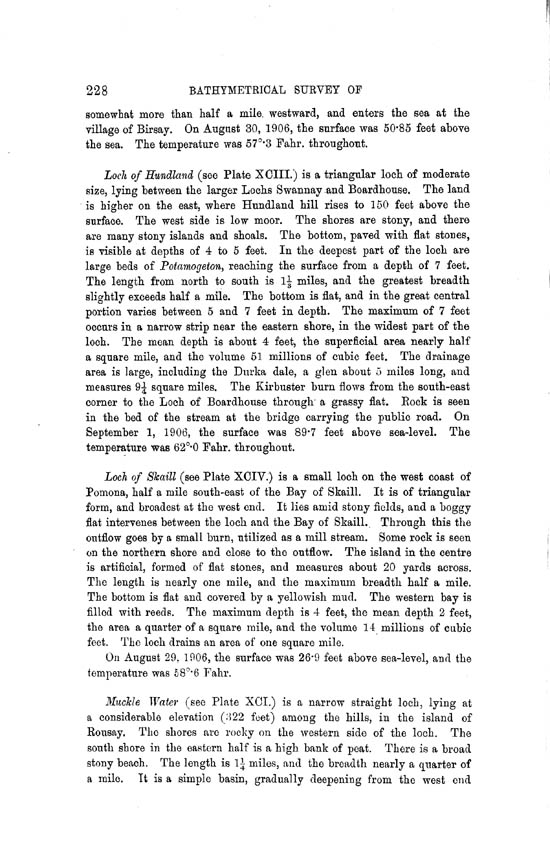 Page 228, Volume II, Part II - Lochs of Orkney