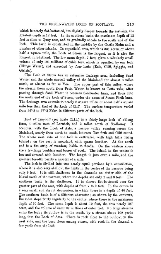 Page 243, Volume II, Part II - Lochs of Shetland