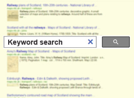 Keyword search graphic