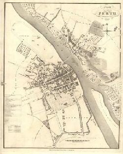 Plan of the City of Perth from actual survey.   Maps of Scotland