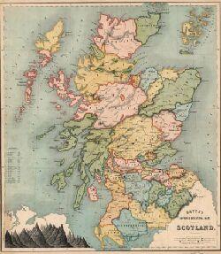 Betts\'s improved educational maps: Scotland. - Maps of Scotland