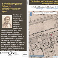 Frederick Douglass in Edinburgh and Scotland - map viewers