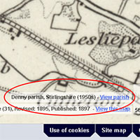 New parish/county information in the Explore Georeferenced Maps viewer graphic