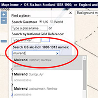 New gazetteer for searching Ordnance Survey six-inch to the mile, 1888-1913 maps