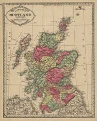 Early maps of Scotland graphic