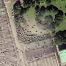 Satellite image overlay detail for George Square, Edinburgh