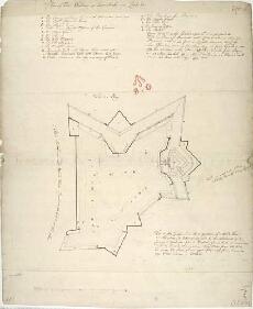 Lochaber Scotland Map.Plan Of Fort William At Inverlochie In Lochaber Military Maps Of