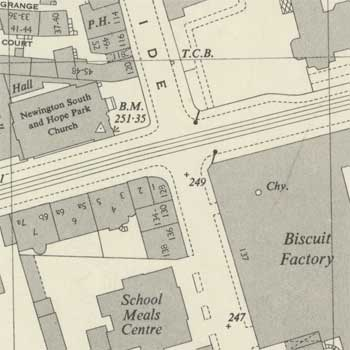 OLD ORDNANCE SURVEY MAP CENTRAL GLASGOW 1909 SAUCHIEHALL STREET FINNIESTON