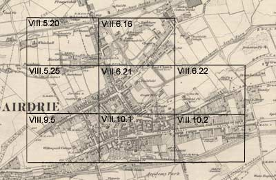 Airdrie Ordnance Survey large scale Scottish town plans 18471895