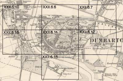 Dumbarton Ordnance Survey Large Scale Scottish Town