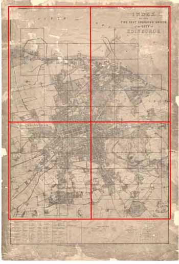 Edinburgh Ordnance Survey large scale Scottish town plans 1847