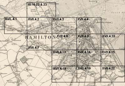 Hamilton Ordnance Survey large scale Scottish town plans 1847
