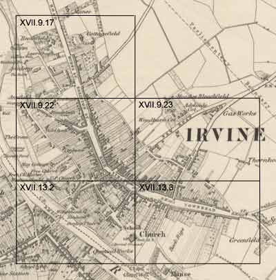 Irvine - Ordnance Survey large scale Scottish town plans, 1847-1895 on