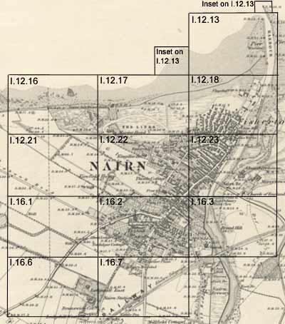 Nairn Scotland Map.Nairn Ordnance Survey Large Scale Scottish Town Plans 1847 1895