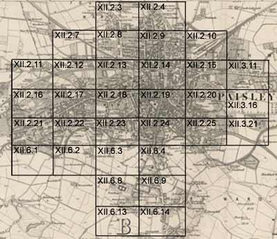 Paisley  Ordnance Survey large scale Scottish town plans 1847