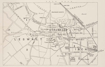 Stranraer Ordnance Survey Large Scale Scottish Town